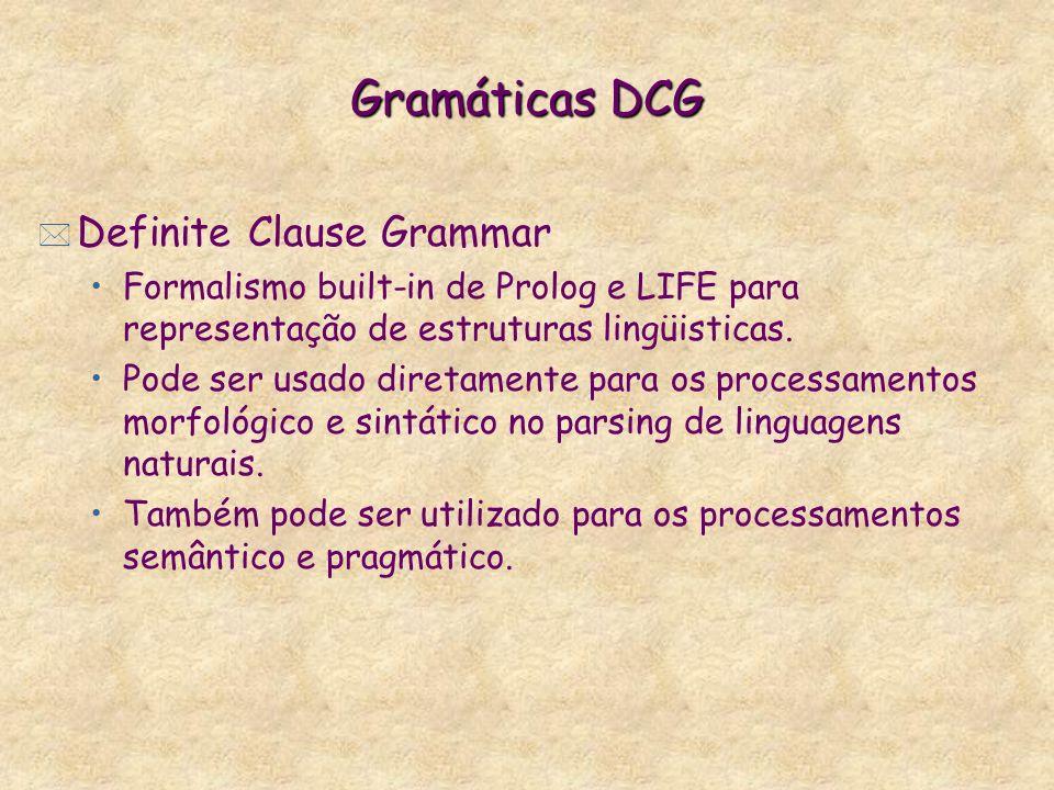 Gramáticas DCG Definite Clause Grammar