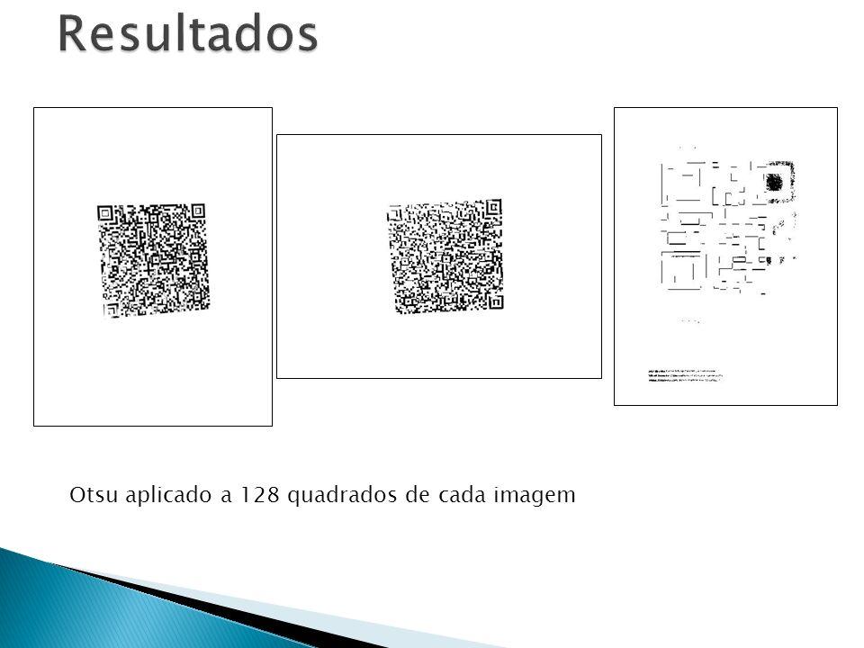 Resultados Otsu aplicado a 128 quadrados de cada imagem