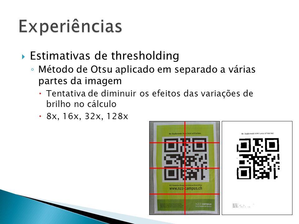 Experiências Estimativas de thresholding