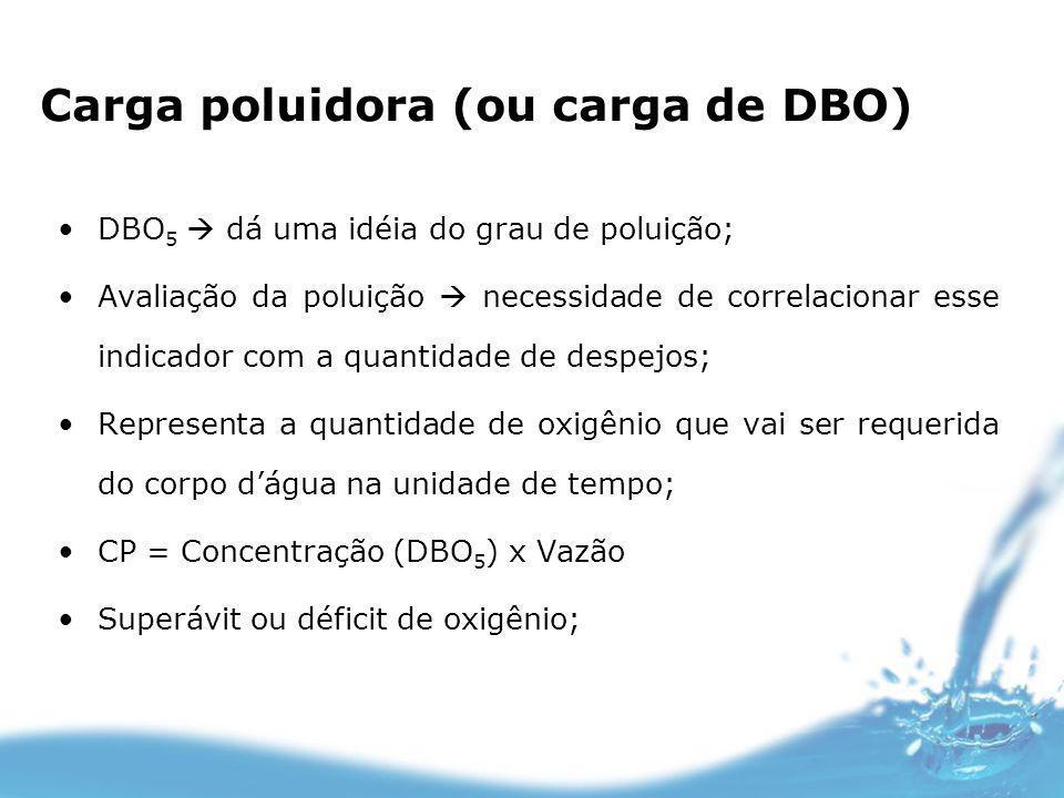 Carga poluidora (ou carga de DBO)