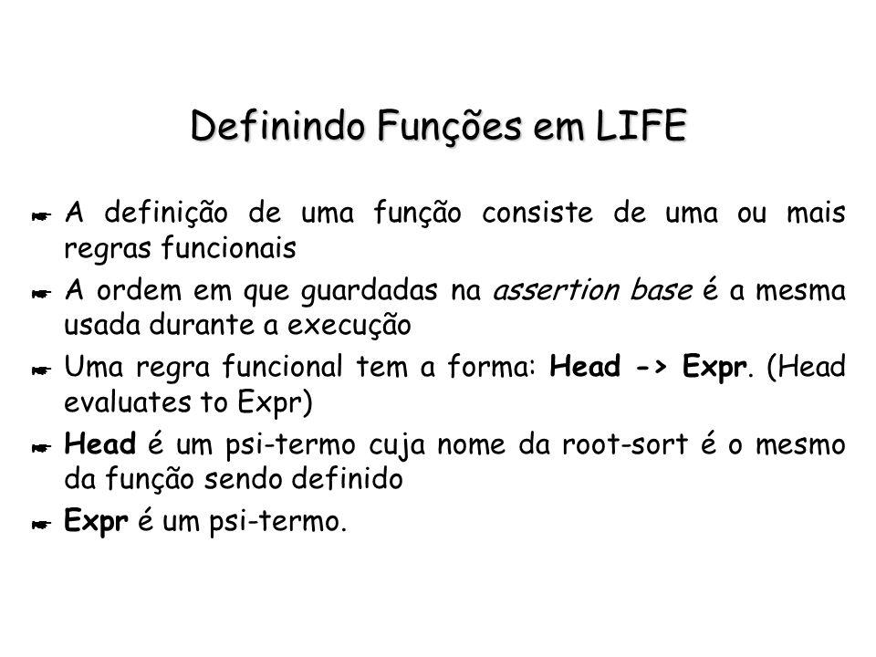 Definindo Funções em LIFE