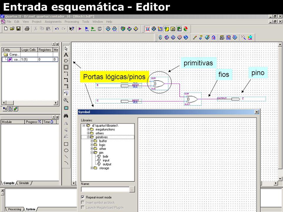 Entrada esquemática - Editor