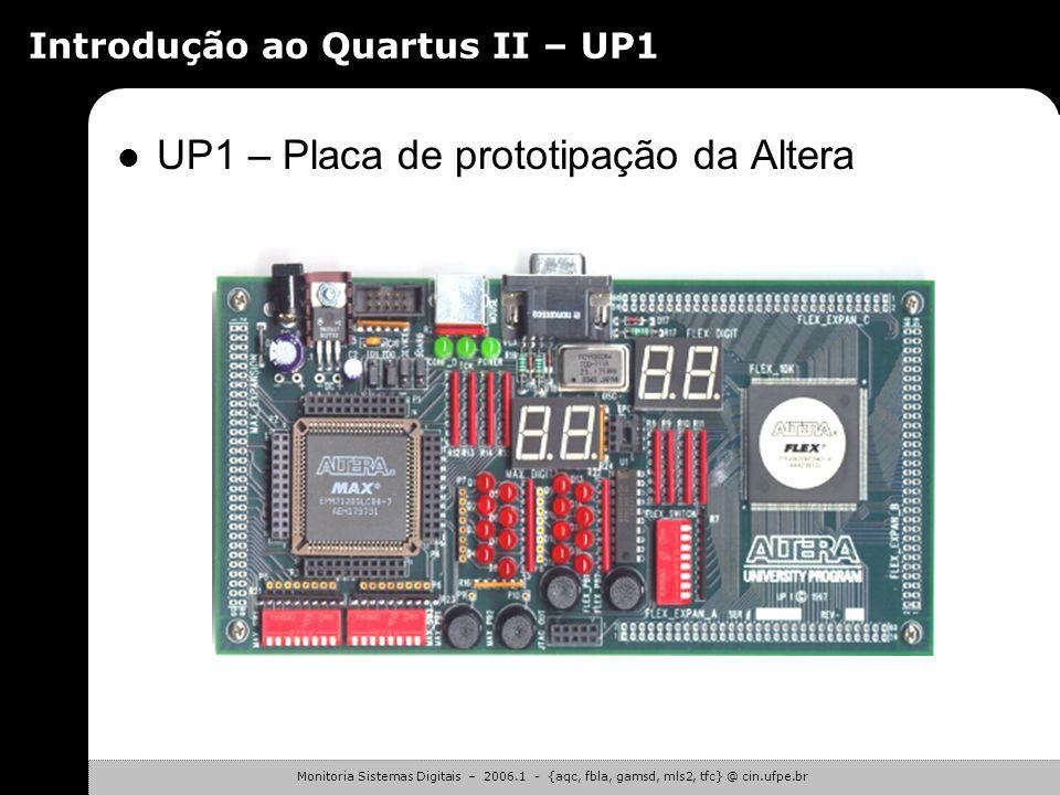 Introdução ao Quartus II – UP1