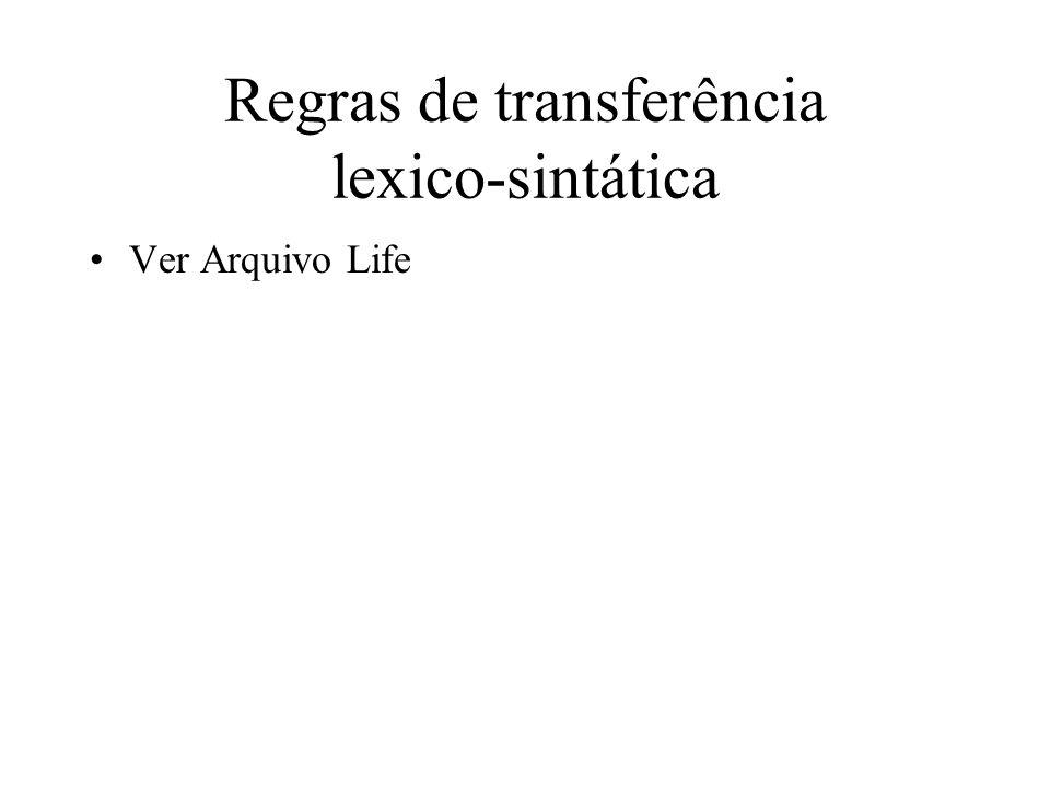 Regras de transferência lexico-sintática