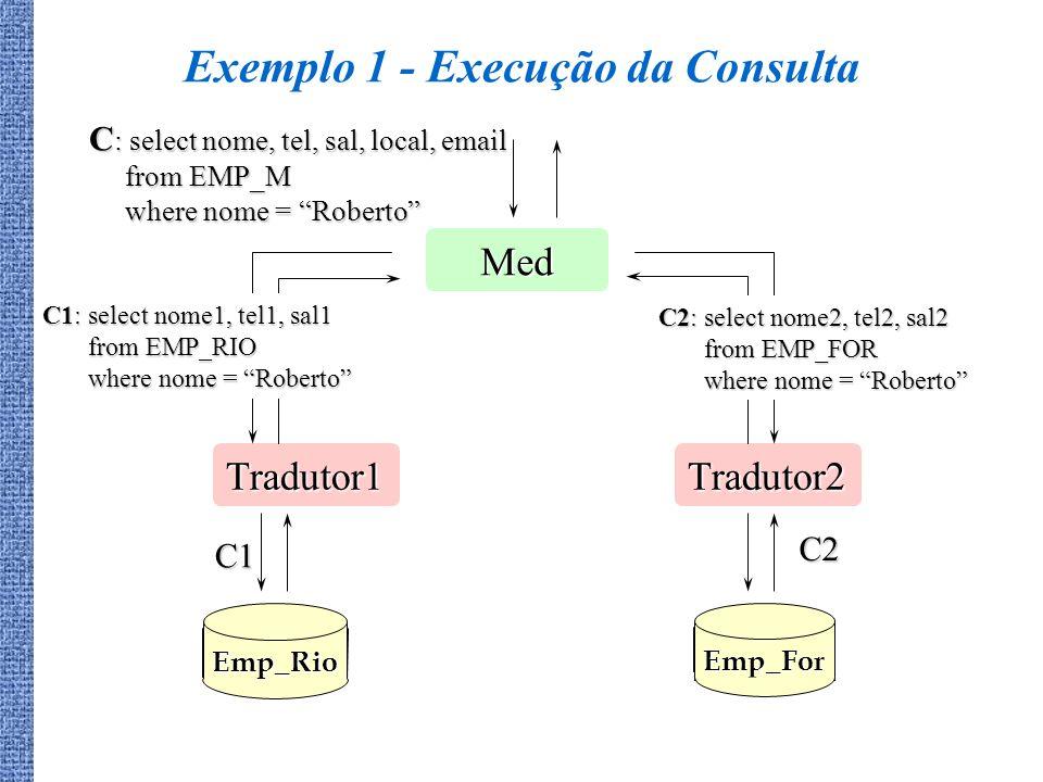 Exemplo 1 - Execução da Consulta