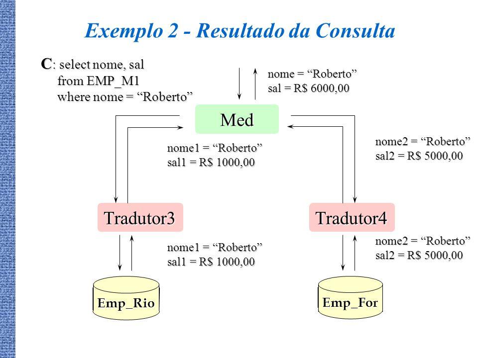 Exemplo 2 - Resultado da Consulta