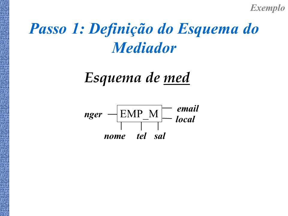Passo 1: Definição do Esquema do Mediador