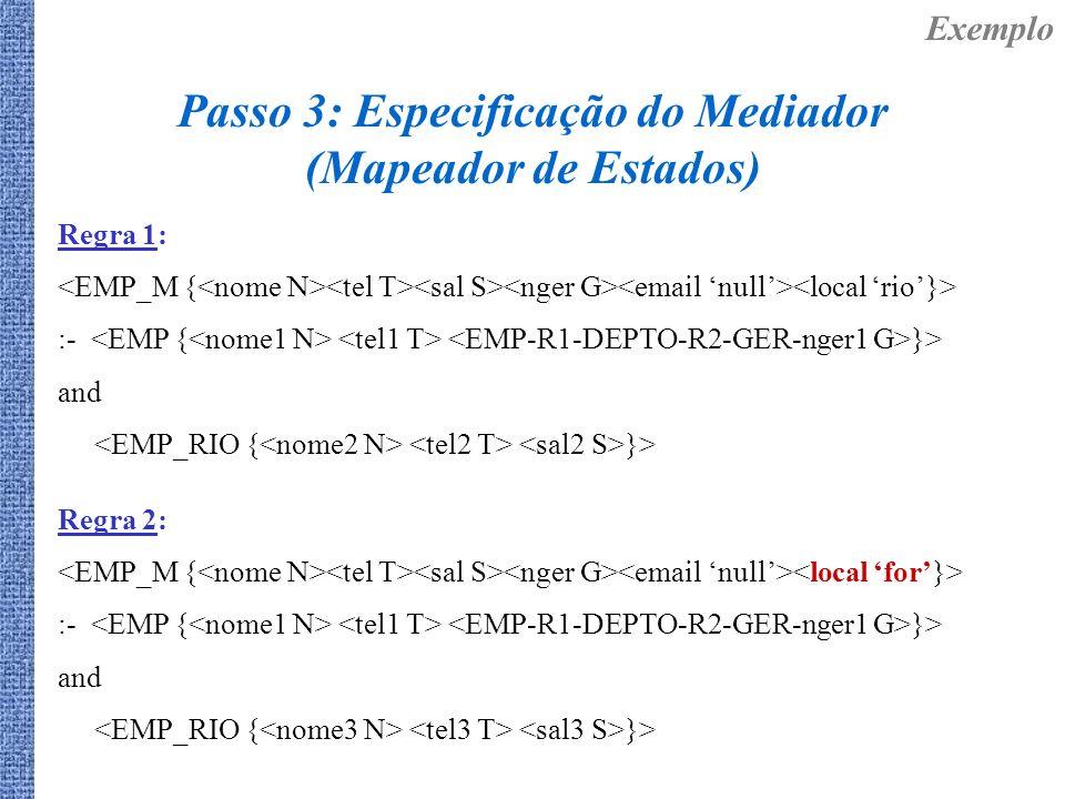 Passo 3: Especificação do Mediador (Mapeador de Estados)