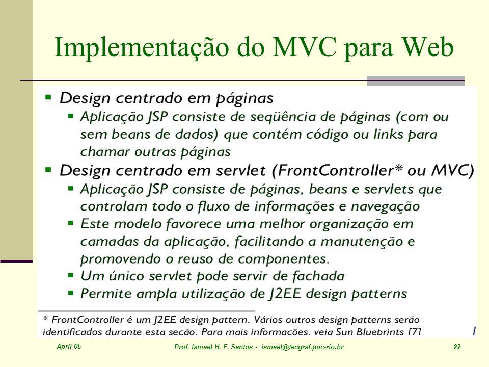 Implementação do MVC para Web