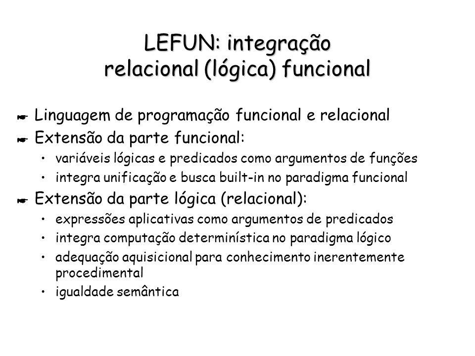 LEFUN: integração relacional (lógica) funcional