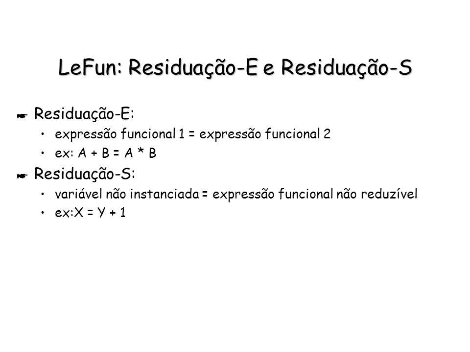 LeFun: Residuação-E e Residuação-S