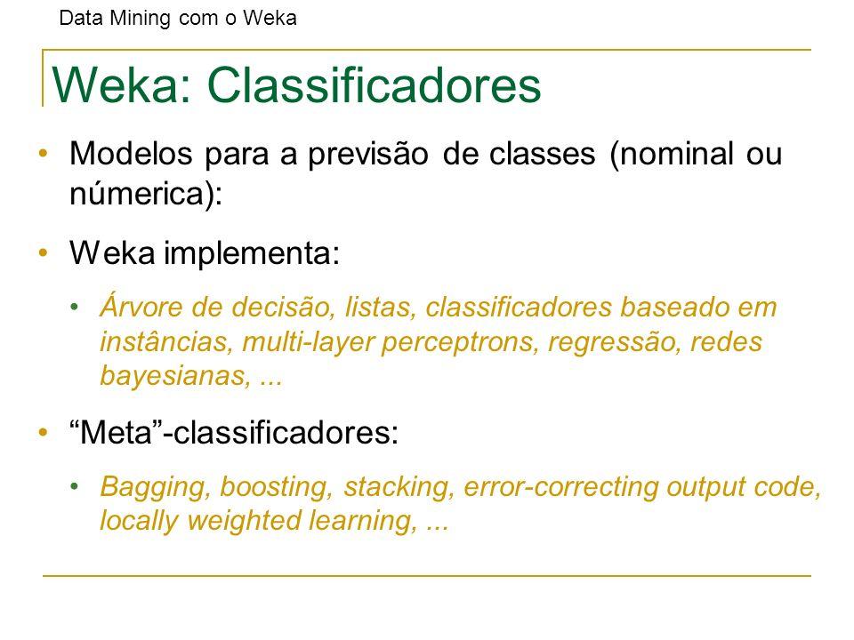 Weka: Classificadores