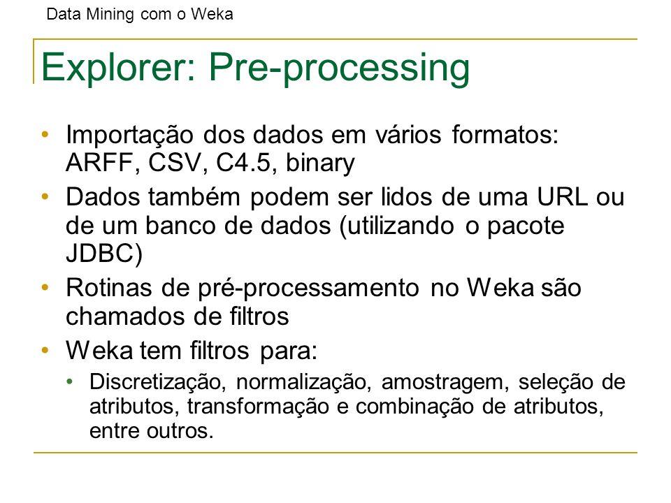 Explorer: Pre-processing