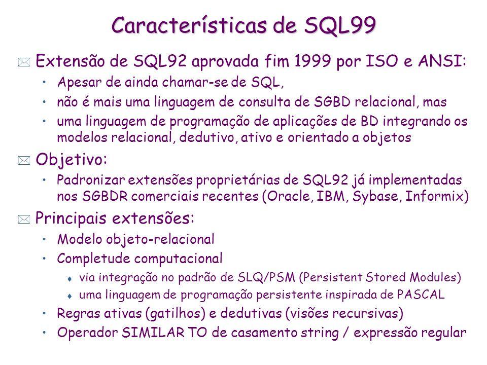 Características de SQL99