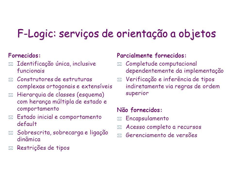 F-Logic: serviços de orientação a objetos