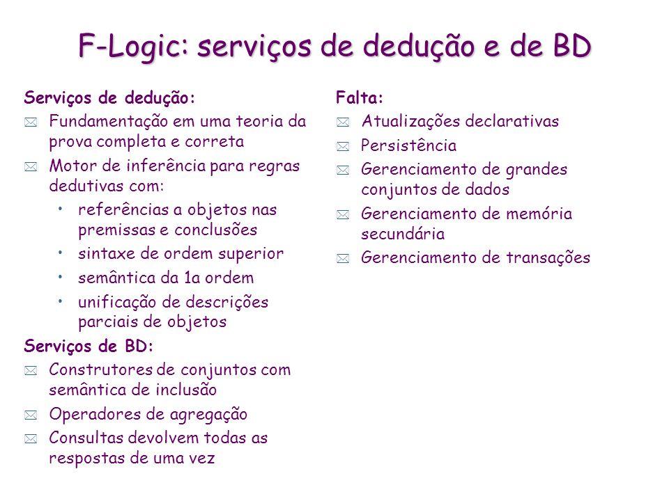 F-Logic: serviços de dedução e de BD
