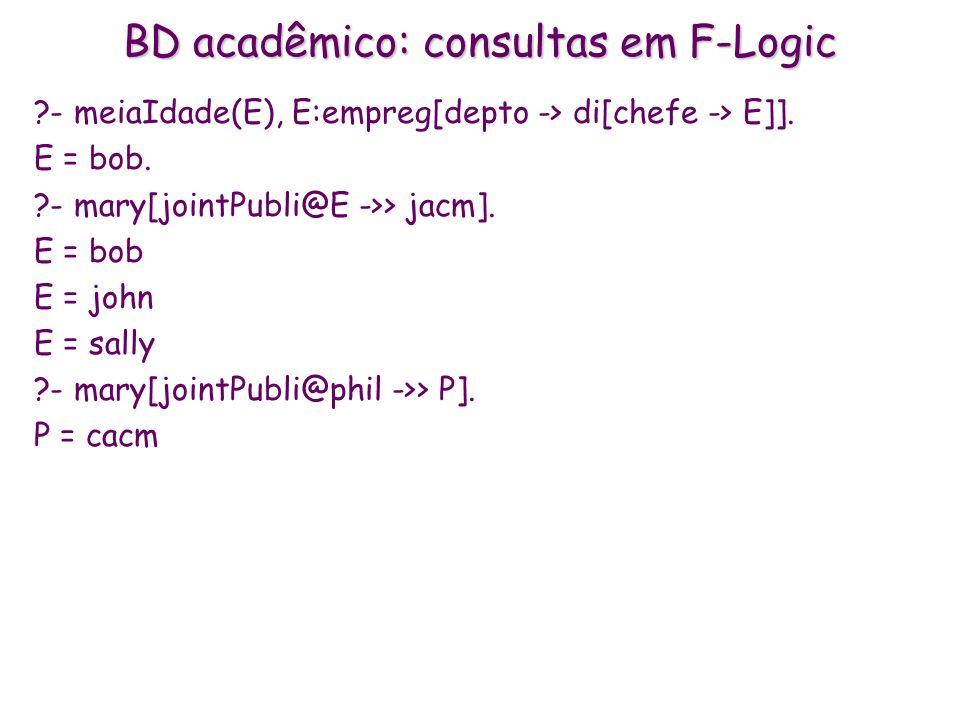 BD acadêmico: consultas em F-Logic