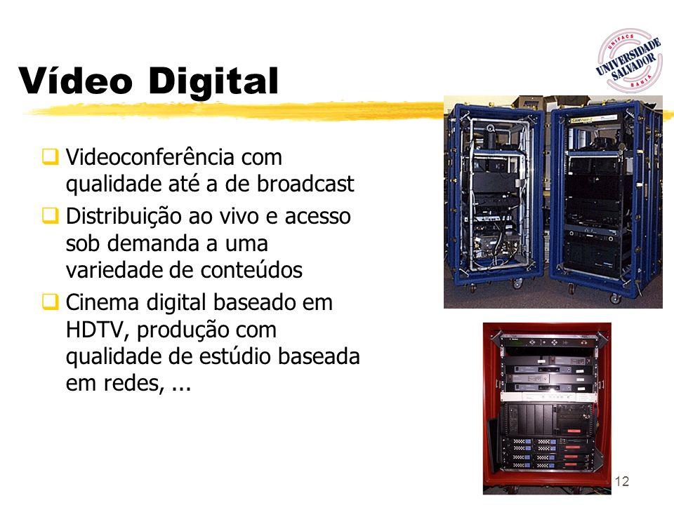 Vídeo Digital Videoconferência com qualidade até a de broadcast