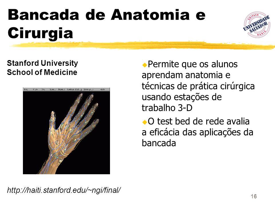 Bancada de Anatomia e Cirurgia