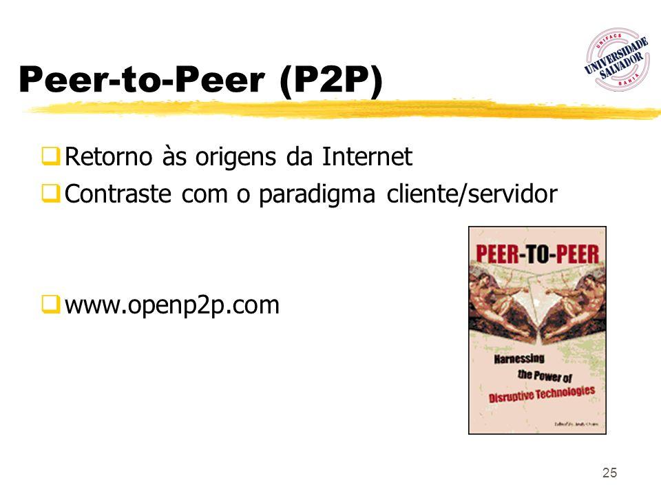 Peer-to-Peer (P2P) Retorno às origens da Internet