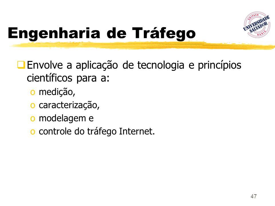 Engenharia de TráfegoEnvolve a aplicação de tecnologia e princípios científicos para a: medição, caracterização,