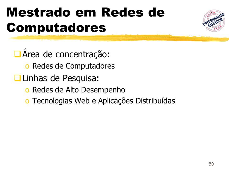 Mestrado em Redes de Computadores
