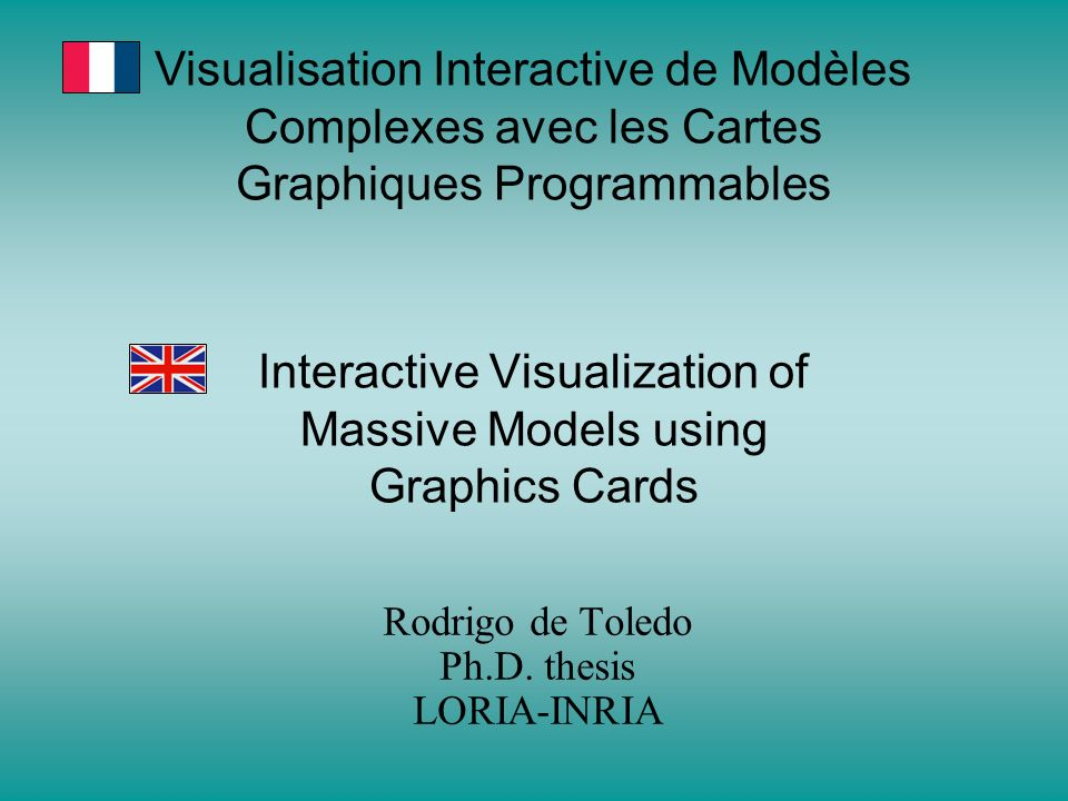Interactive Visualization of Massive Models using Graphics Cards