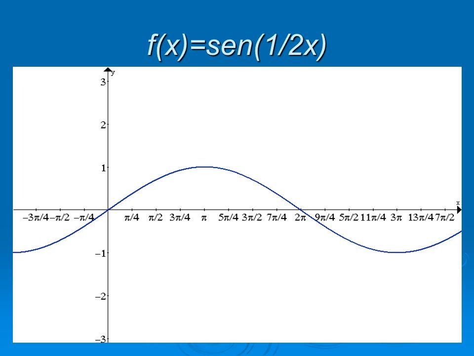 f(x)=sen(1/2x)