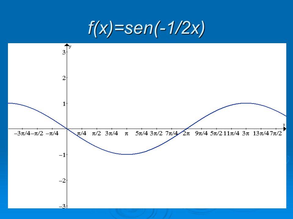 f(x)=sen(-1/2x)