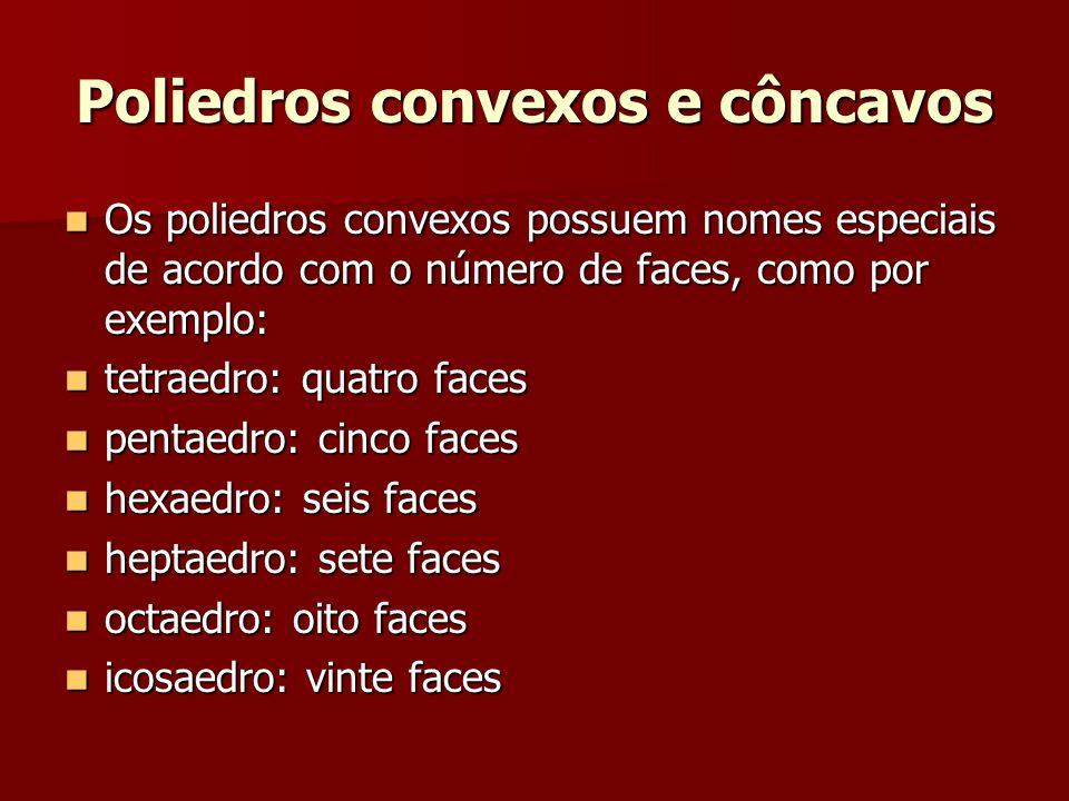 Poliedros convexos e côncavos