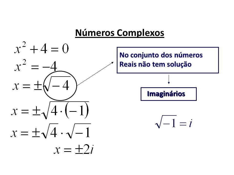 Números Complexos No conjunto dos números Reais não tem solução