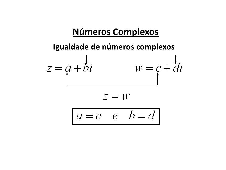 Igualdade de números complexos