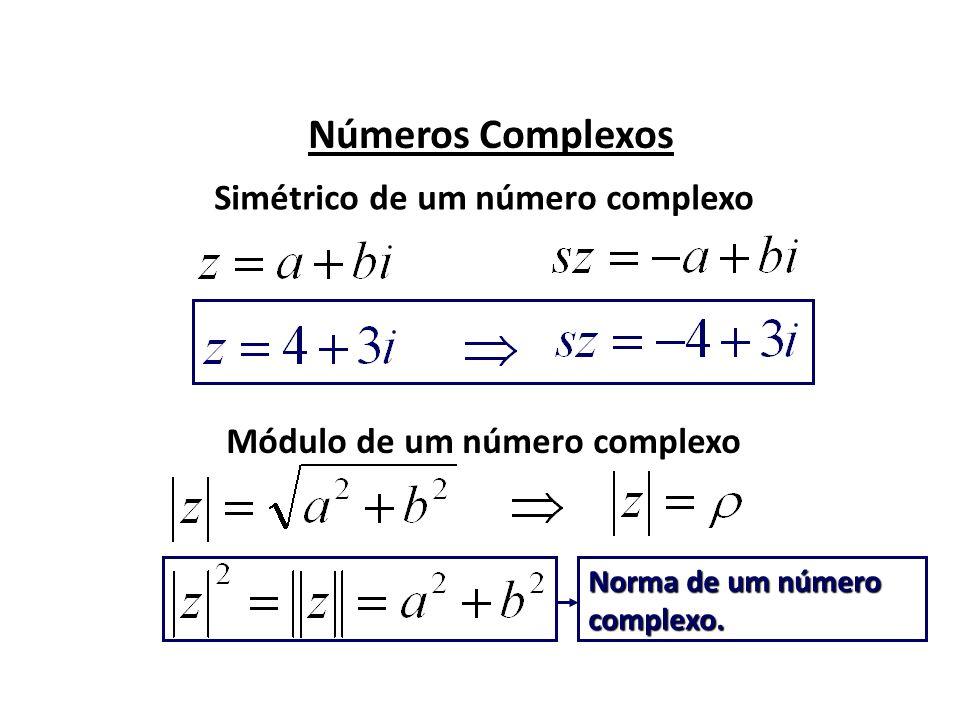 Simétrico de um número complexo Módulo de um número complexo
