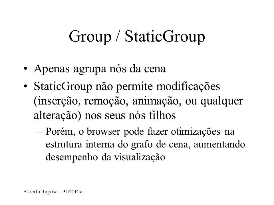 Group / StaticGroup Apenas agrupa nós da cena