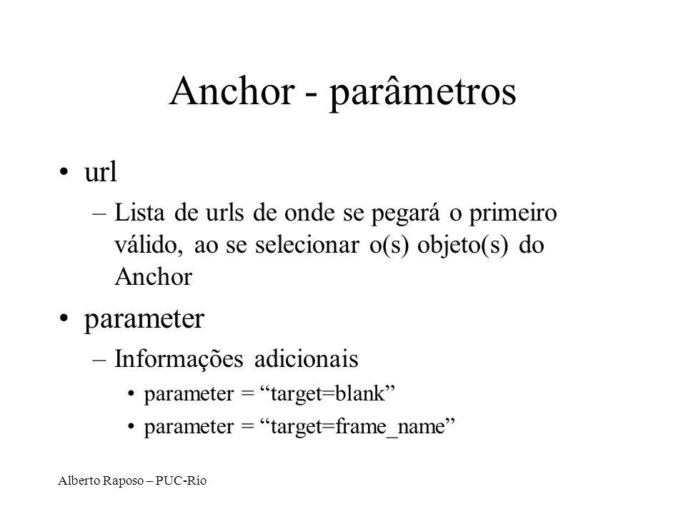 Anchor - parâmetros url parameter