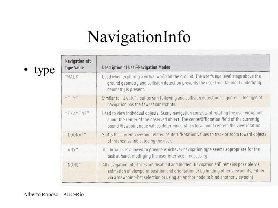 NavigationInfo type Alberto Raposo – PUC-Rio