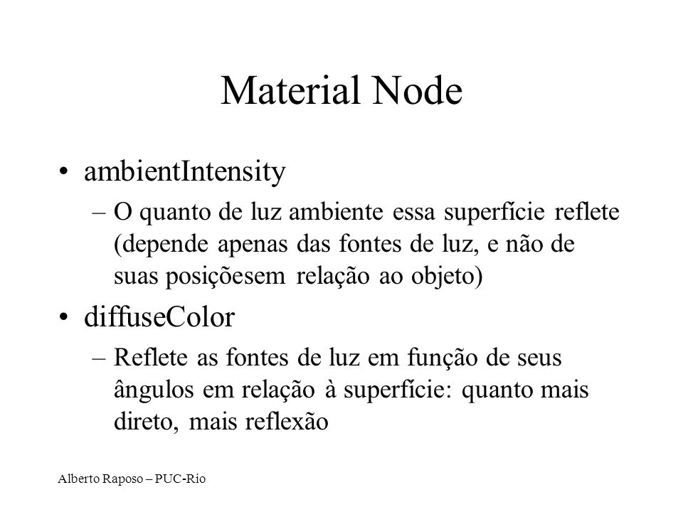 Material Node ambientIntensity diffuseColor
