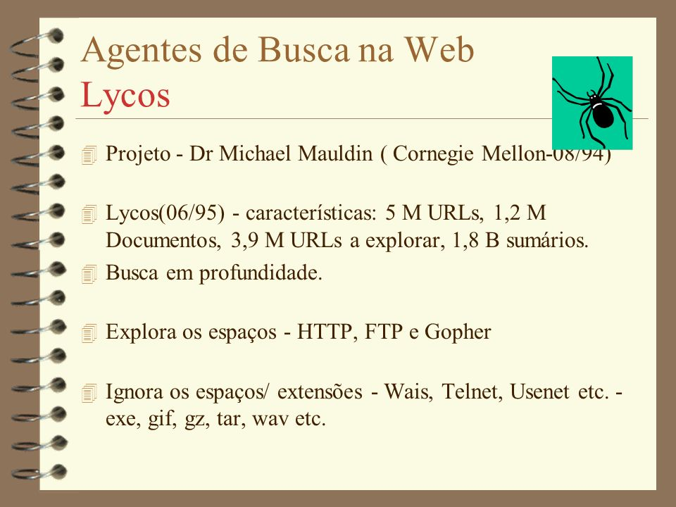 Agentes de Busca na Web Lycos