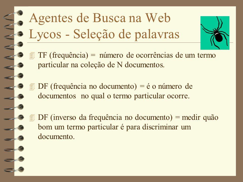 Agentes de Busca na Web Lycos - Seleção de palavras