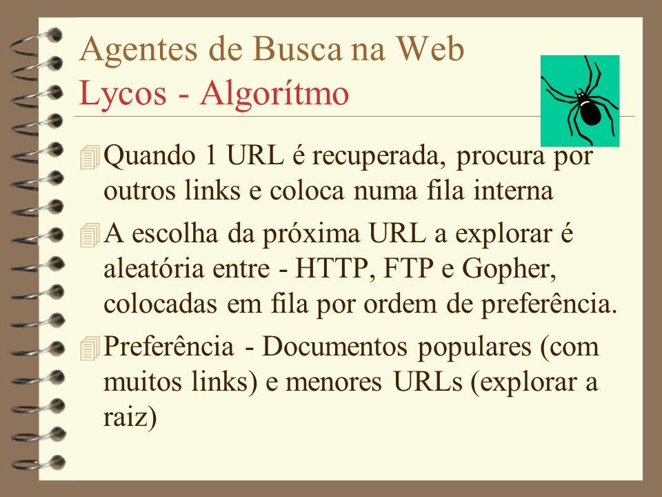 Agentes de Busca na Web Lycos - Algorítmo