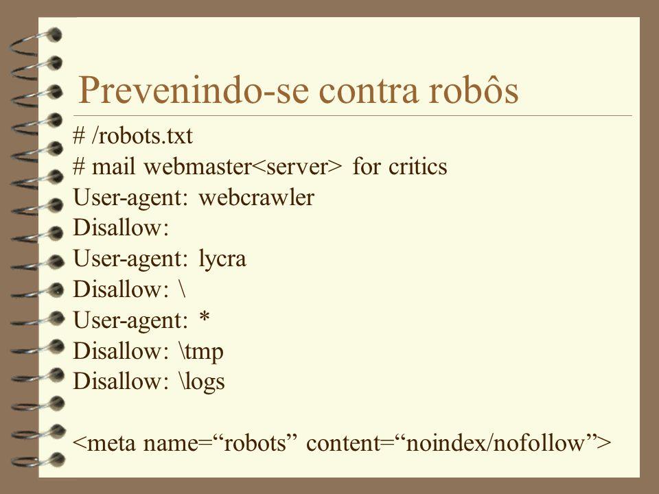 Prevenindo-se contra robôs