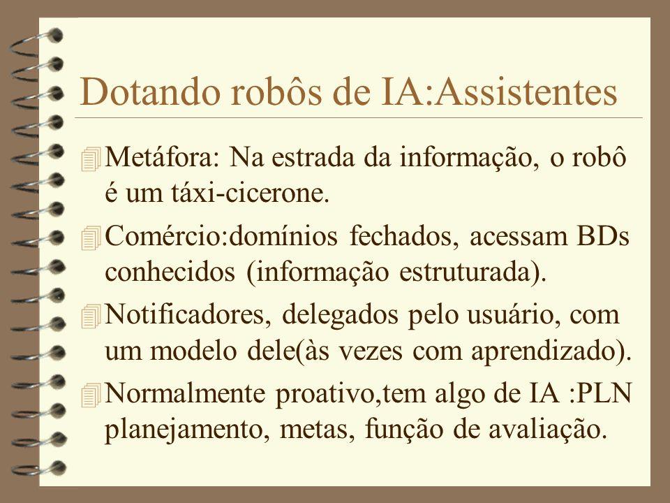 Dotando robôs de IA:Assistentes