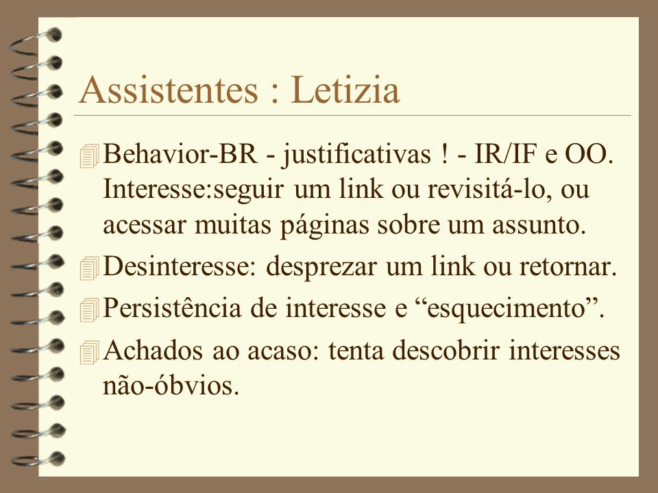 Assistentes : Letizia
