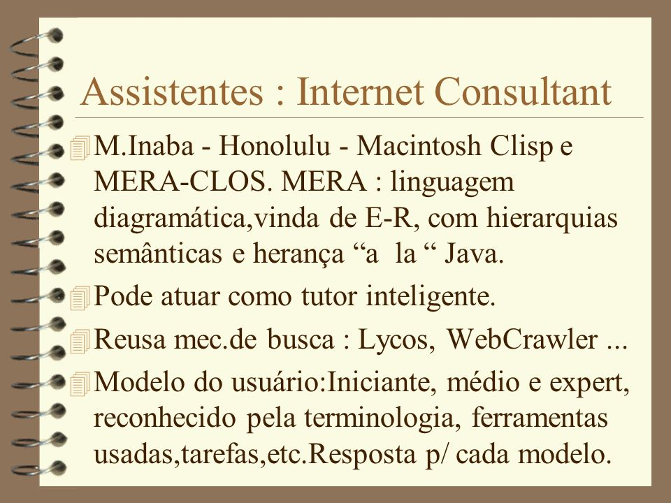 Assistentes : Internet Consultant