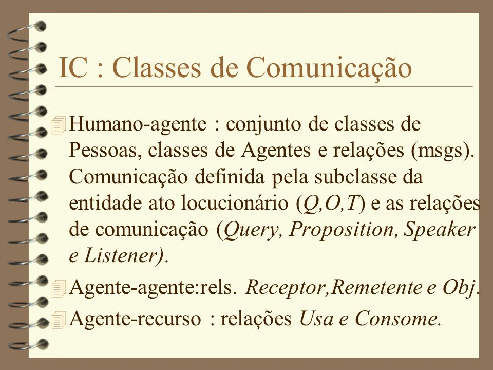 IC : Classes de Comunicação