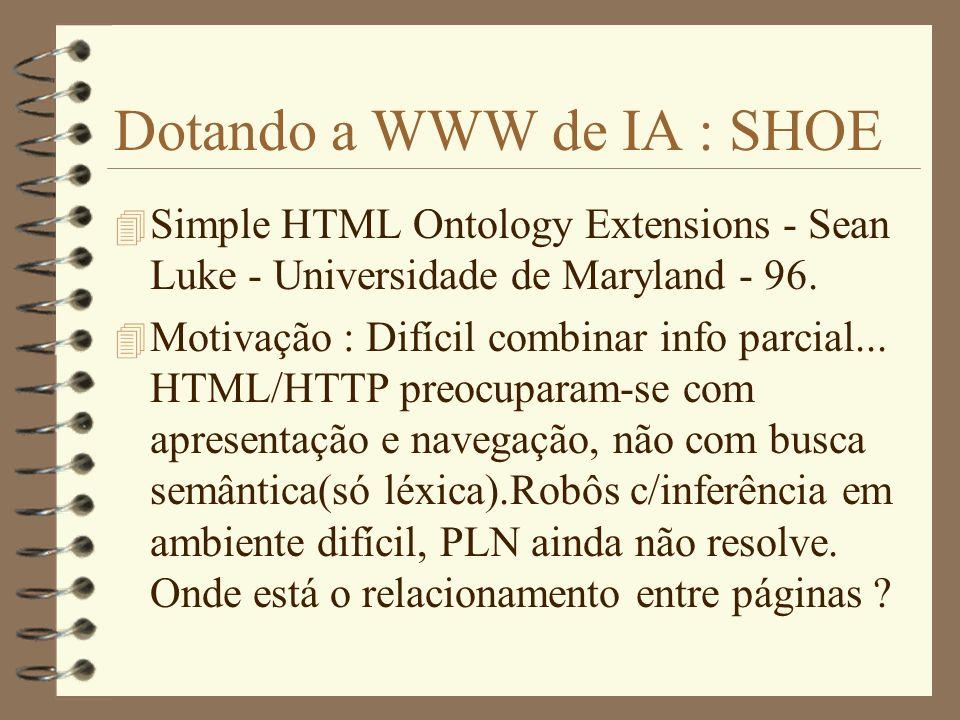 Dotando a WWW de IA : SHOE