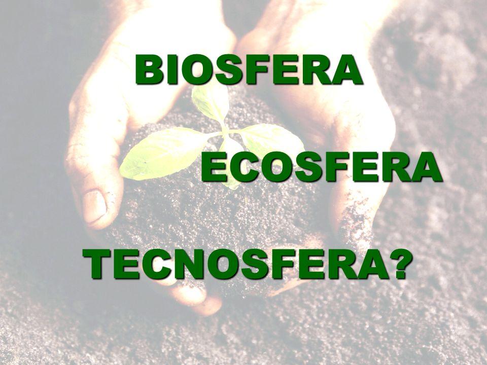 BIOSFERA ECOSFERA TECNOSFERA