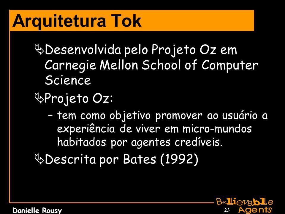 Arquitetura TokDesenvolvida pelo Projeto Oz em Carnegie Mellon School of Computer Science. Projeto Oz: