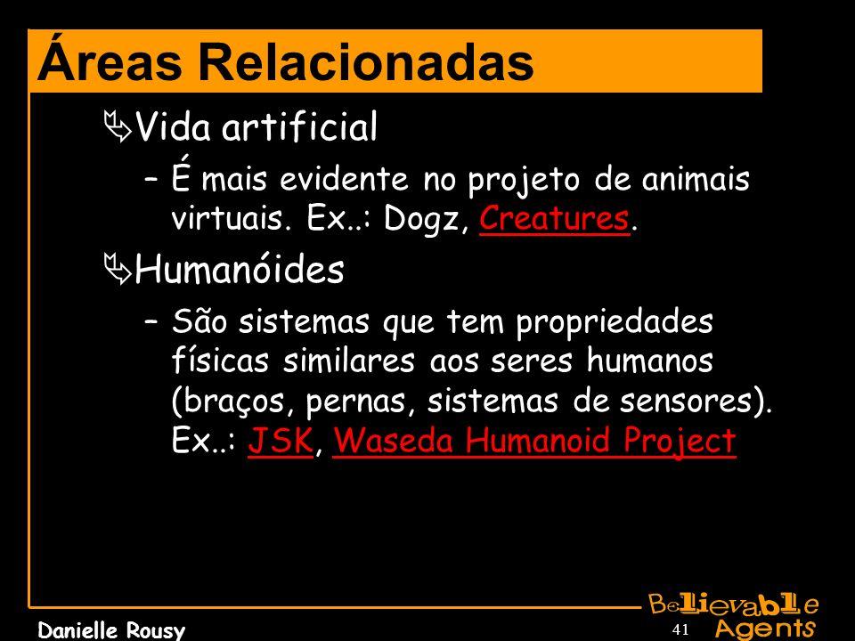 Áreas Relacionadas Vida artificial Humanóides