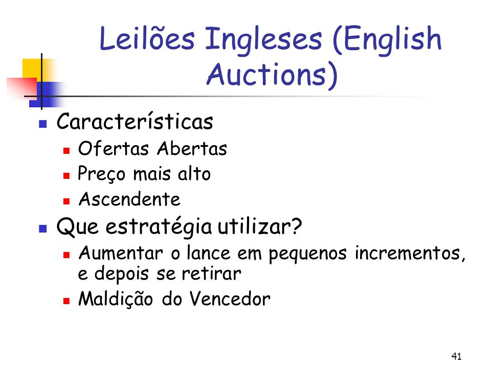 Leilões Ingleses (English Auctions)